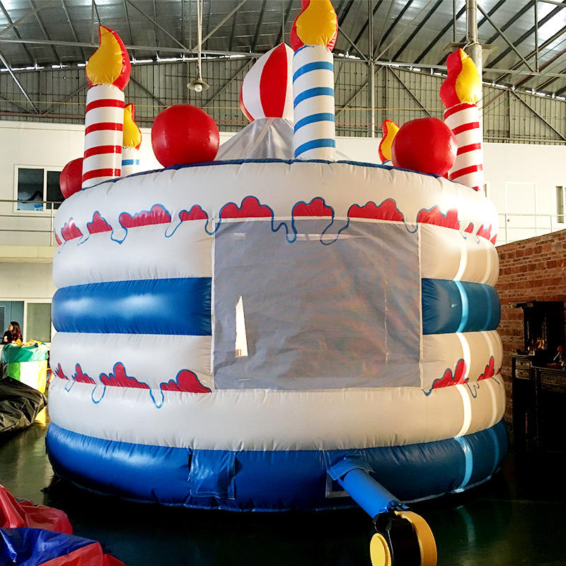 Indoor outdoor blow up inflatable jump house cake bouncer