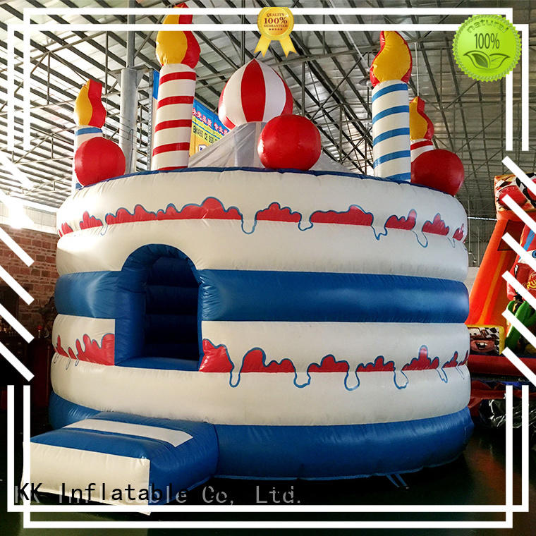 indoor blow cake moonwalk bouncers KK INFLATABLE manufacture