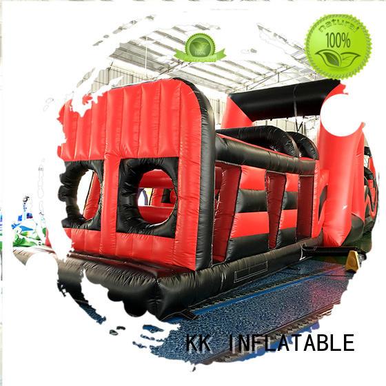 inflatable assault course firefighting KK INFLATABLE Brand inflatable obstacle course