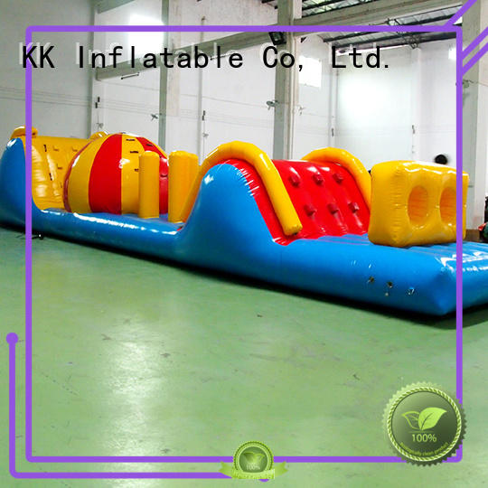 KK INFLATABLE Brand air toy material giant inflatable water park obstacle
