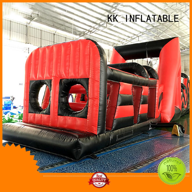 rehearse firefighting games inflatable obstacle course KK INFLATABLE