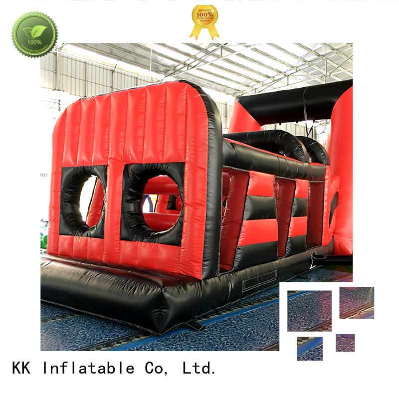 fire kids inflatable obstacle course sport KK INFLATABLE