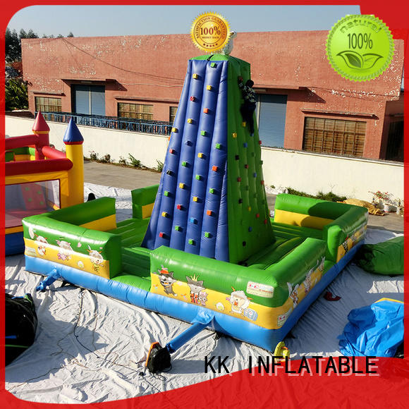 KK INFLATABLE funny rock climbing inflatable trampoline for entertainment