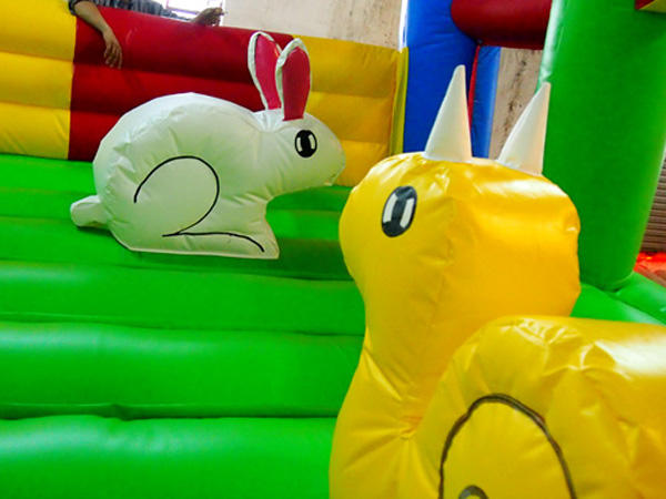 small bouncy castle animal shape for playground KK INFLATABLE
