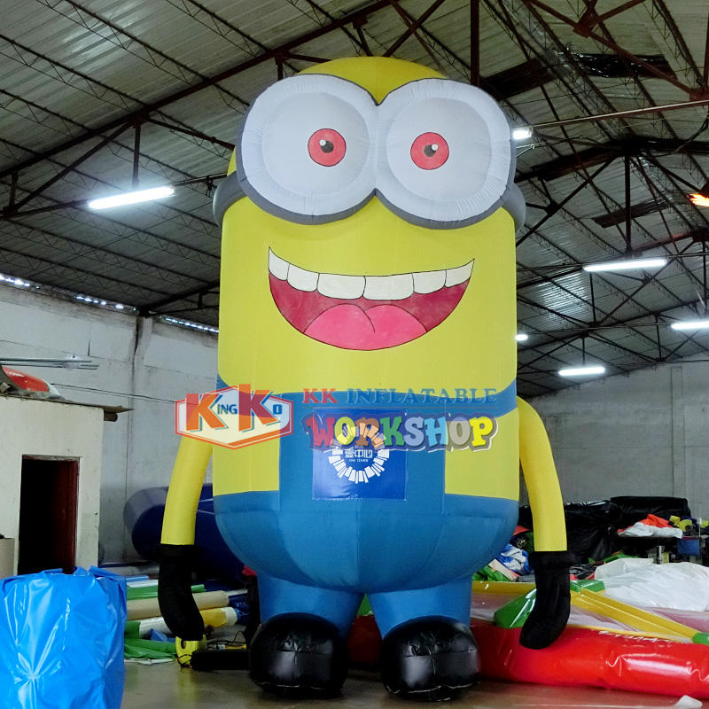 Happy and animated inflatable Minions cartoon character