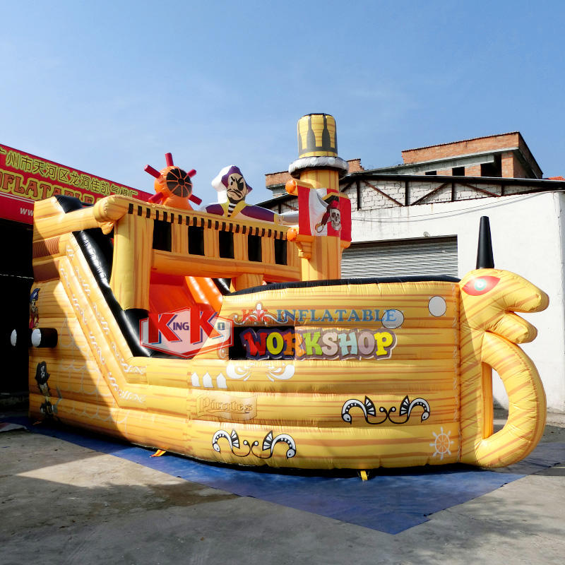 tarpaulin kids slides bouncy slide KK INFLATABLE