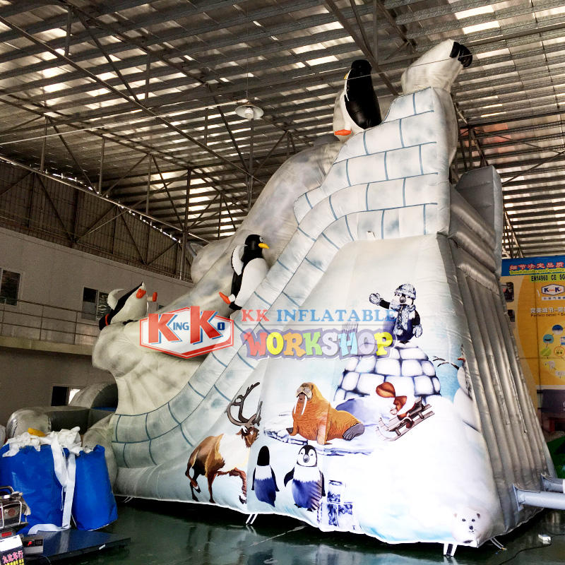 Outdoor toys polar bear shape blow up slide for rental