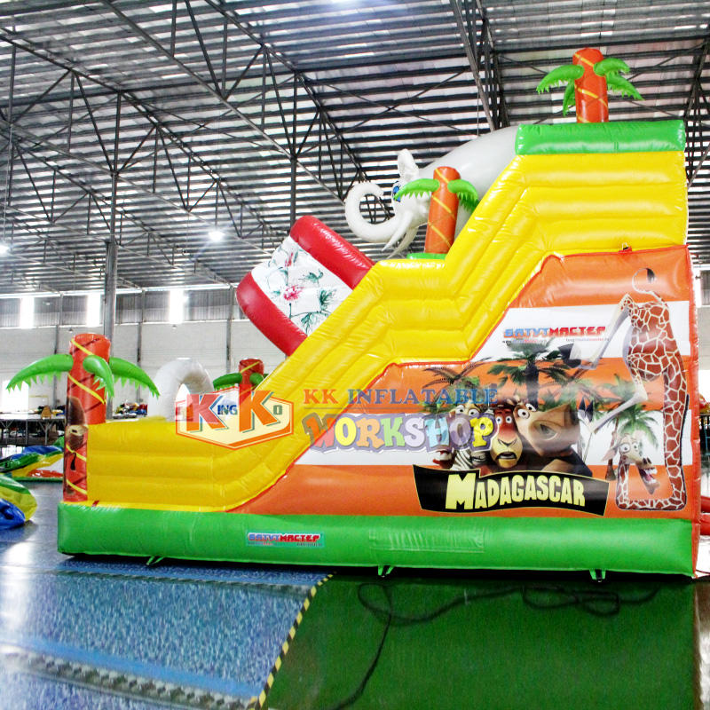 Sewing technology PVC inflatable kids bouncy slide hire