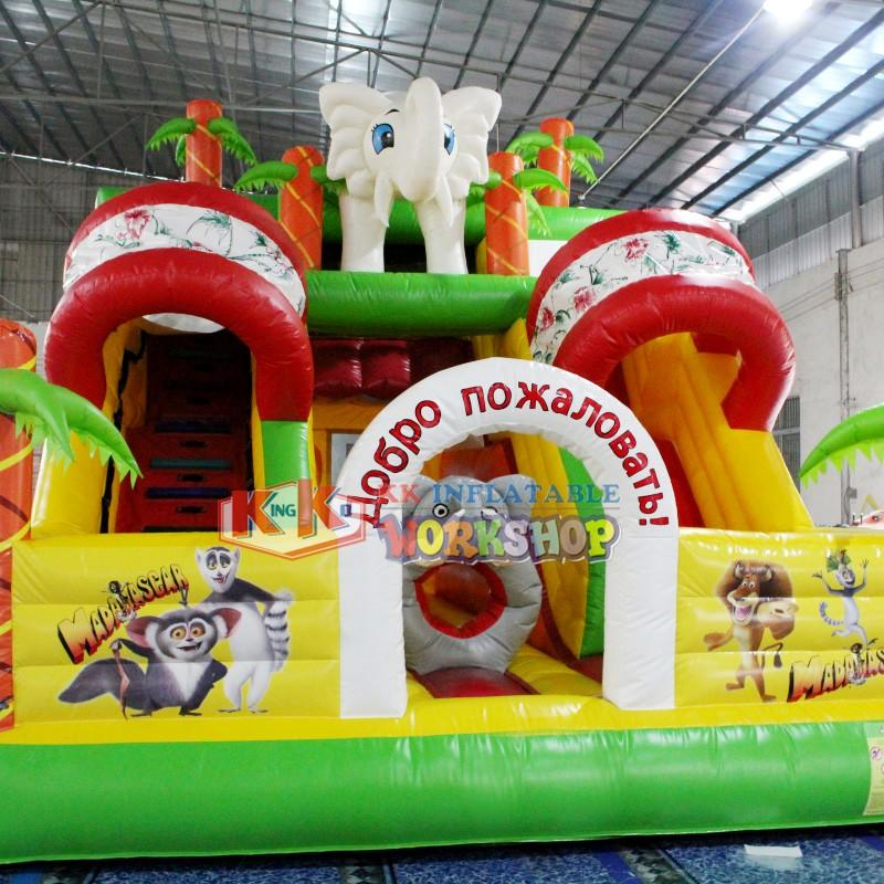 KK INFLATABLE Brand inflatable technology inflatable combo bouncy factory