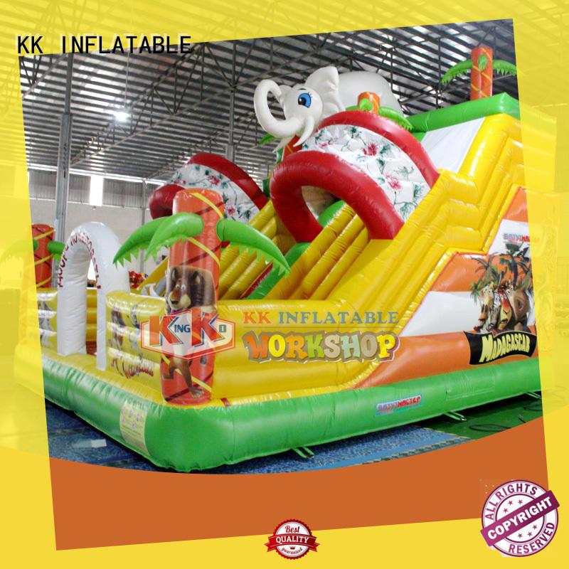 KK INFLATABLE hot selling moon bounce water slide trampoline for christmas
