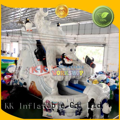 dry blow bouncy slide retardant fire KK INFLATABLE company