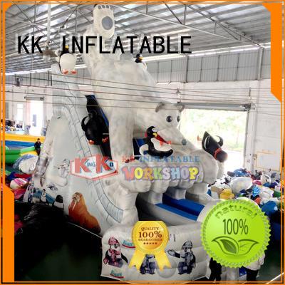 durability slide retardant bouncy slide car KK INFLATABLE Brand