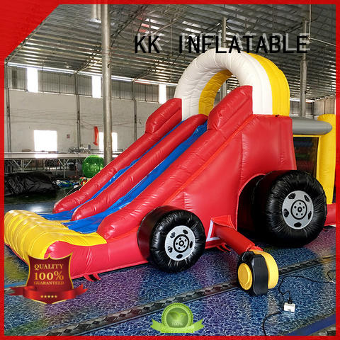 inflatable pool slide jump bed for parks KK INFLATABLE