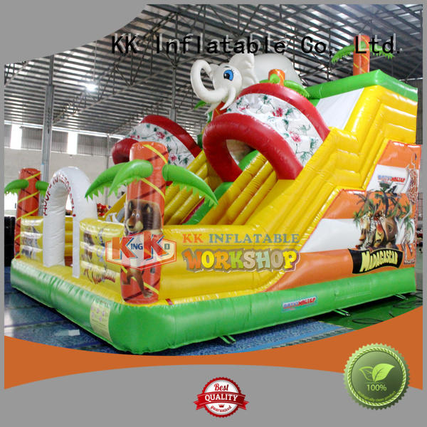slide sewing inflatable KK INFLATABLE Brand bounce house water slide manufacture