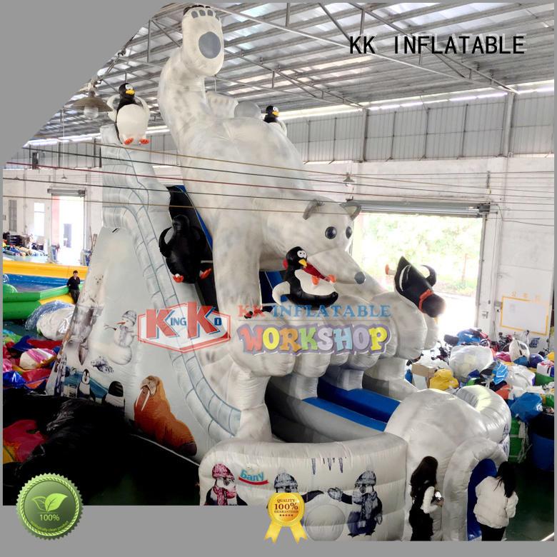 kids slide KK INFLATABLE Brand backyard water slide factory