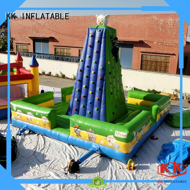Wholesale rock inflatable climbing wall KK INFLATABLE Brand