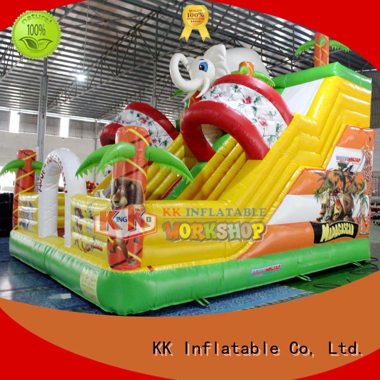 technology hire slide KK INFLATABLE Brand bounce house water slide manufacture