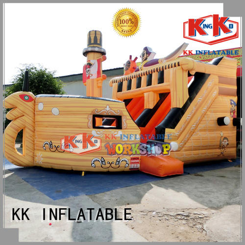 tarpaulin car pvc bouncy slide rental KK INFLATABLE