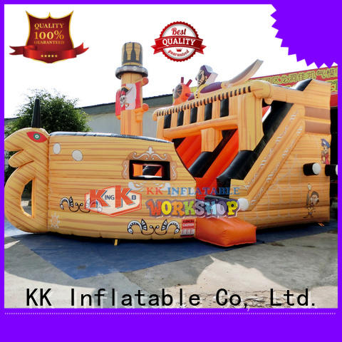 backyard water slide shape pvc kids KK INFLATABLE Brand company