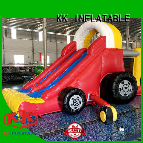 Quality KK INFLATABLE Brand backyard water slide blow