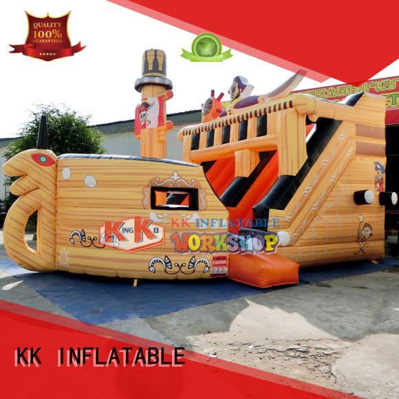 PVC blow up water slide colorful for paradise