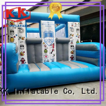 KK INFLATABLE Brand firefighting kids rehearse inflatable obstacle course