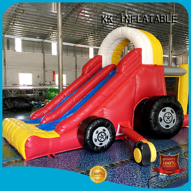 fire shape OEM bouncy slide KK INFLATABLE