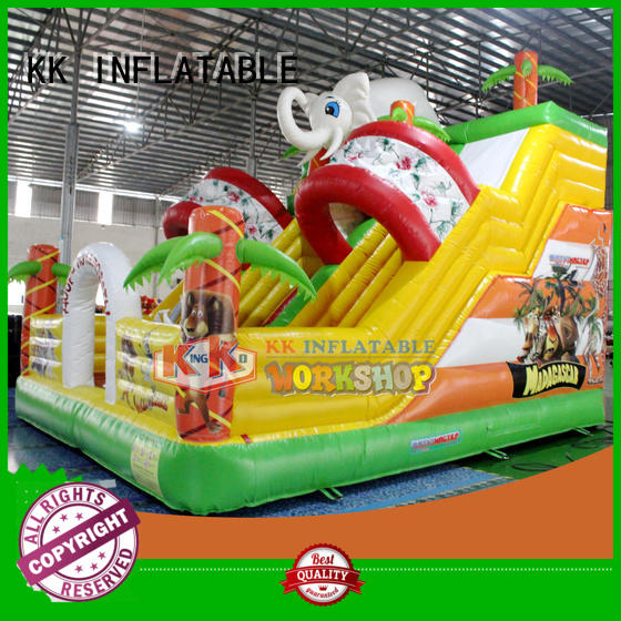 technology slide bounce house water slide inflatable sewing KK INFLATABLE Brand