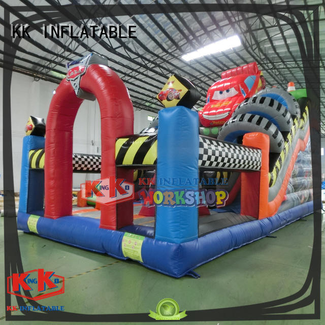 KK INFLATABLE animal shape inflatable castle supplier for playground