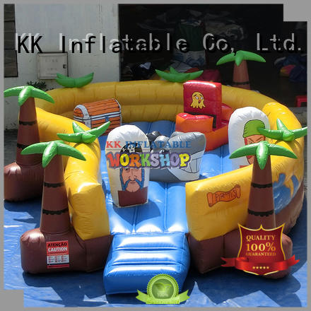 Quality KK INFLATABLE Brand outdoor kids inflatable obstacle course