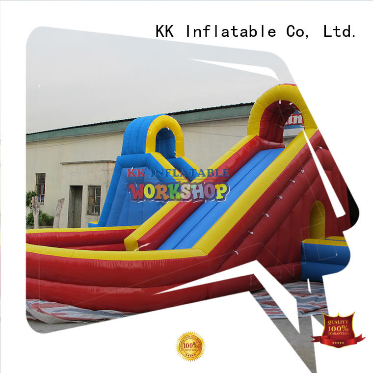 backyard water slide fire blow bouncy slide bear KK INFLATABLE Brand