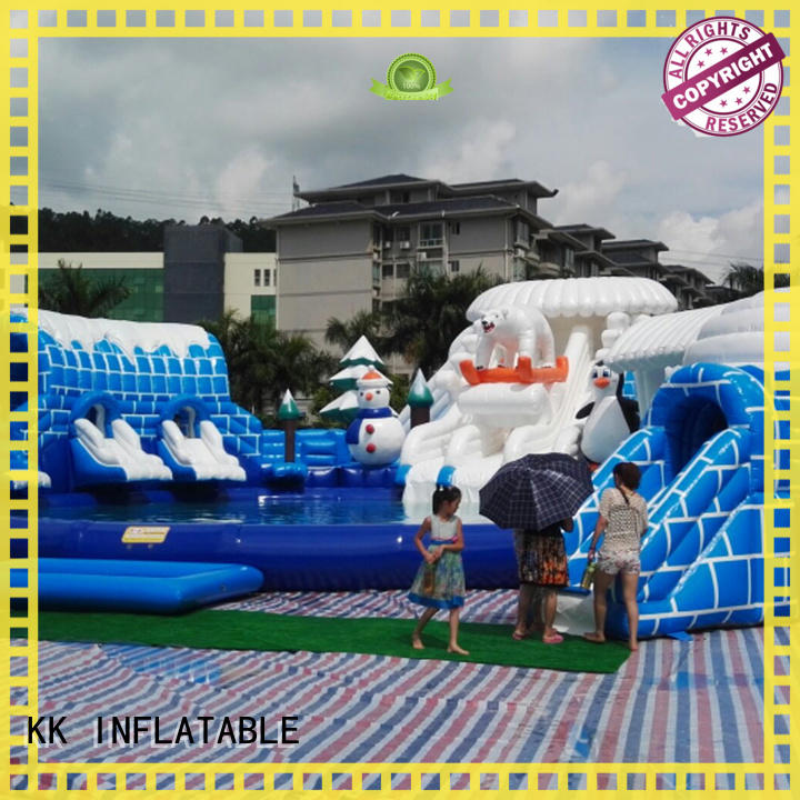 KK INFLATABLE rainbow inflatable theme park manufacturer for seaside