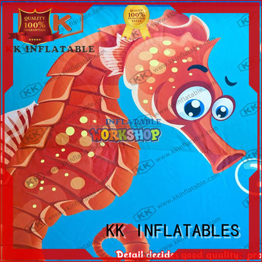 cartoon kids inflatable water park slide pool combination for children KK INFLATABLE