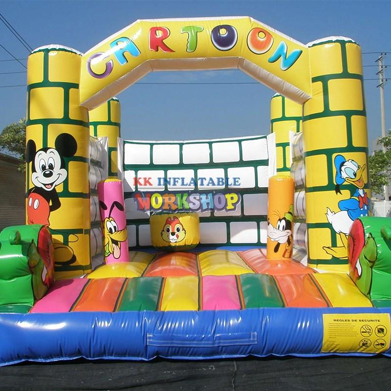 KK INFLATABLE portable inflatable jumping castle colorful for paradise