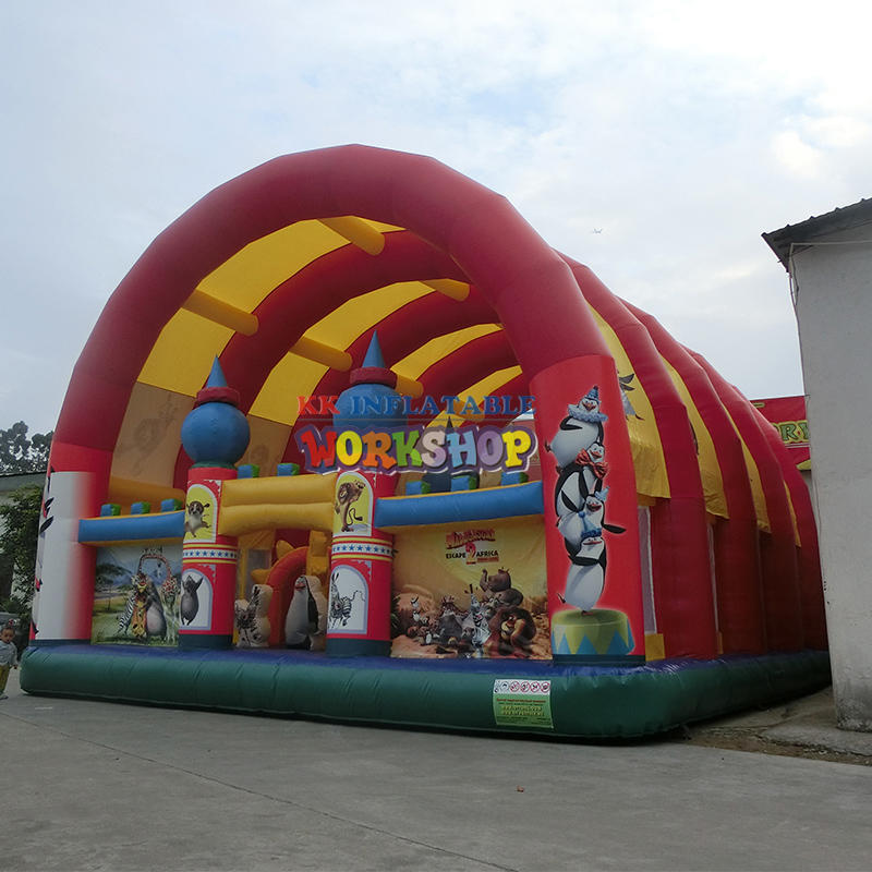 KK factory Custom Kids fun city inflatable children playground equipment
