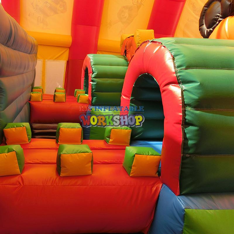 KK factory Custom Kids fun city inflatable children playground equipment