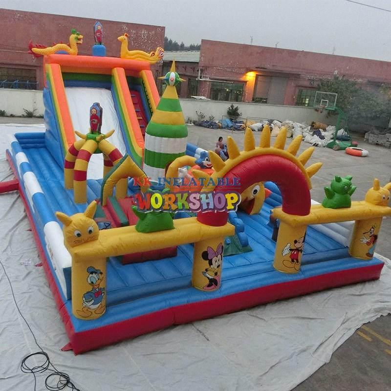 panda inflatable water obstacle course castle for adventure KK INFLATABLE