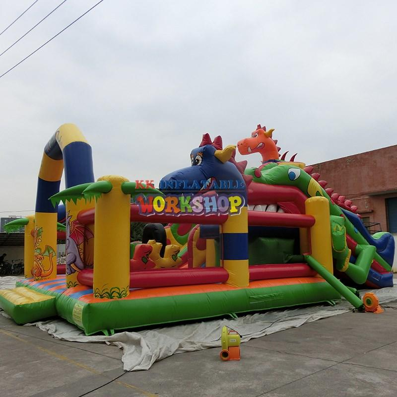 Custom fire inflatable obstacle course sport KK INFLATABLE
