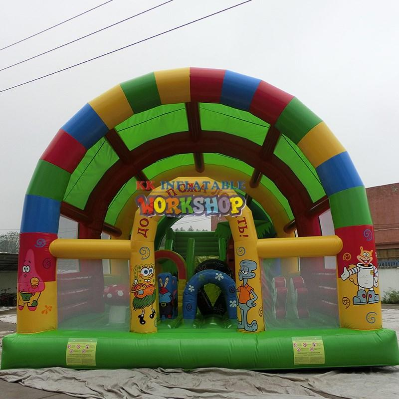 KK INFLATABLE mickey mouse moon bounce wholesale for event