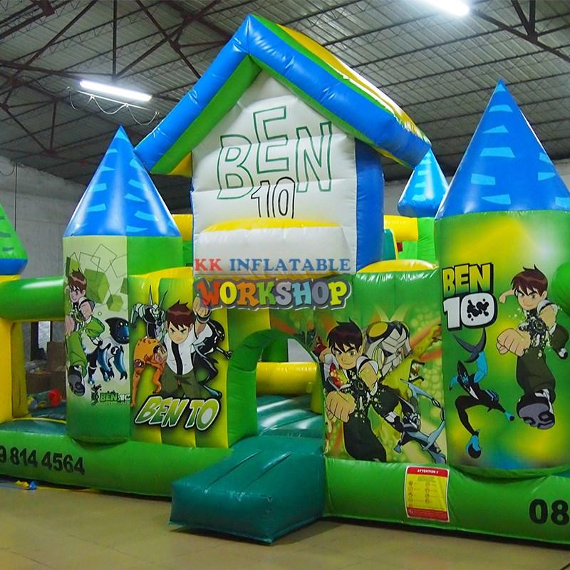 KK INFLATABLE Brand tent firefighting inflatable obstacle course manufacture