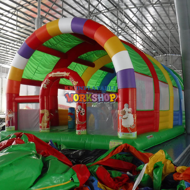 Children Happy City Inflatable Obstacle