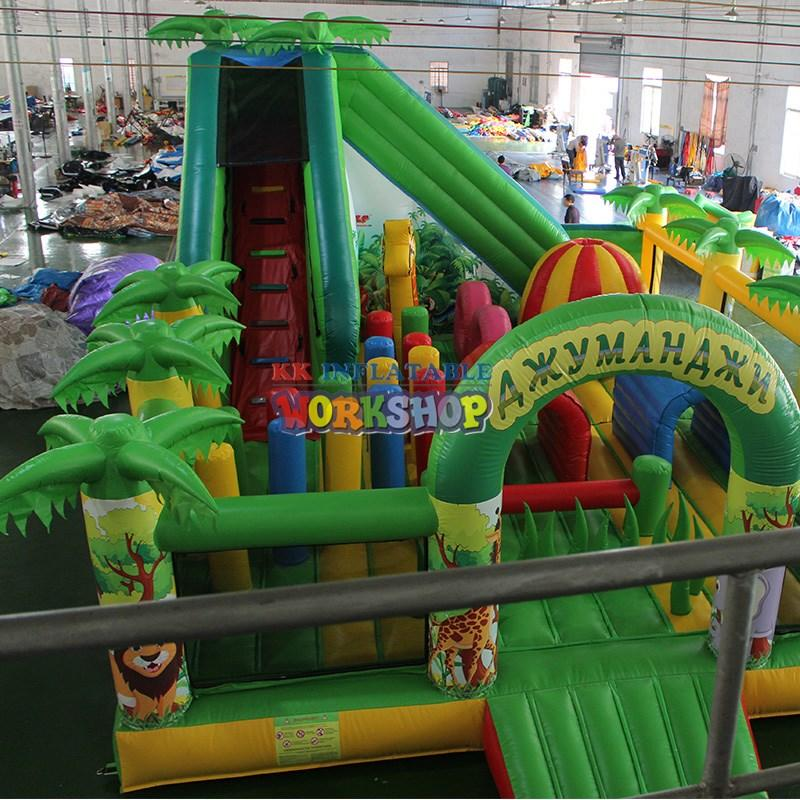 obstacle games rehearse sport KK INFLATABLE Brand inflatable obstacle course supplier