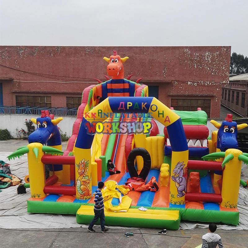 pvc inflatable amusement park