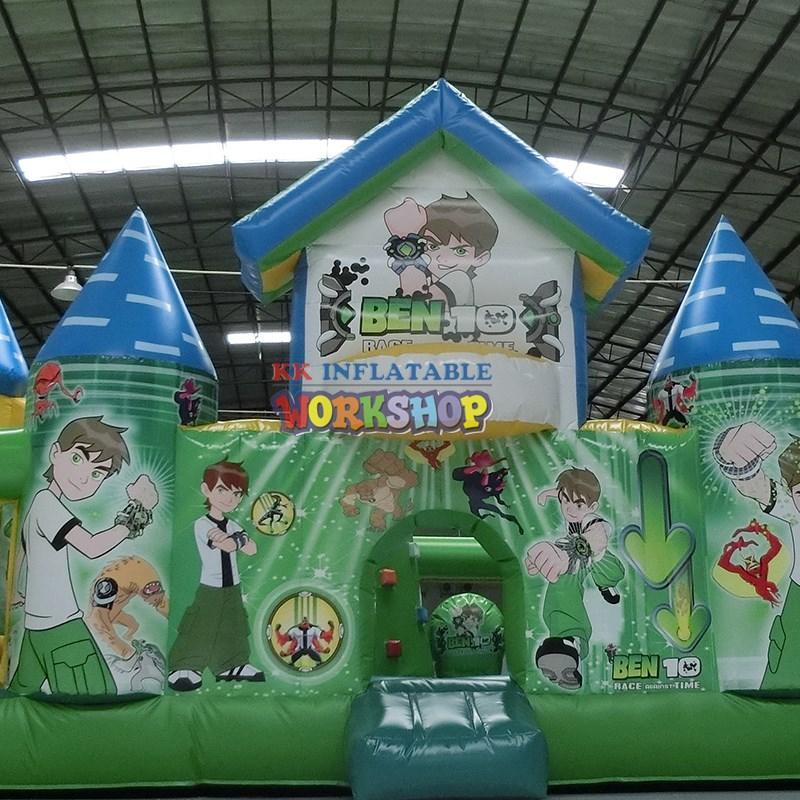 KK INFLATABLE tarpaulin water slide jumper supplier for paradise