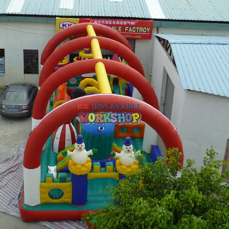 transparent inflatable castle animated cartoon for children KK INFLATABLE