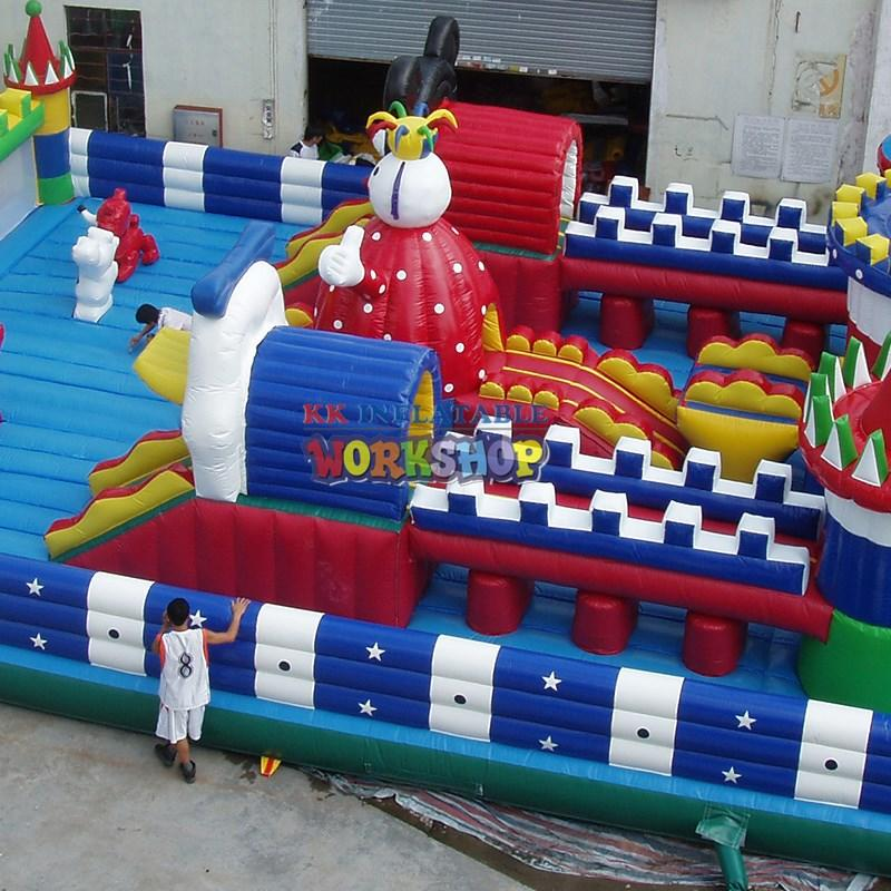 KK INFLATABLE Brand fire inflatable assault course outdoor supplier
