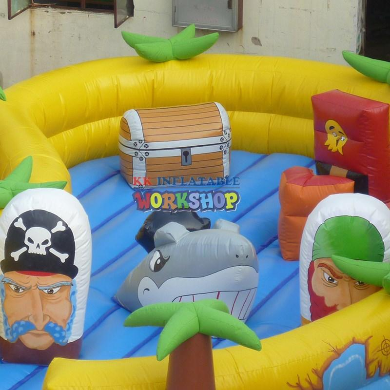 KK INFLATABLE multifuntional blow up obstacle course manufacturer for racing game