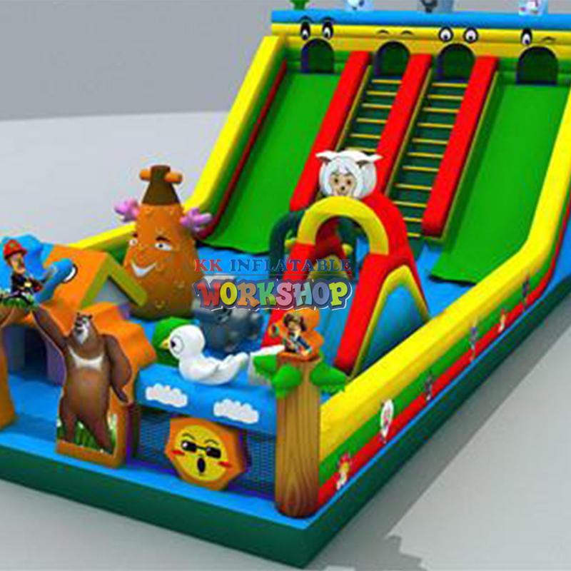 inflatable dinosaur amusement park