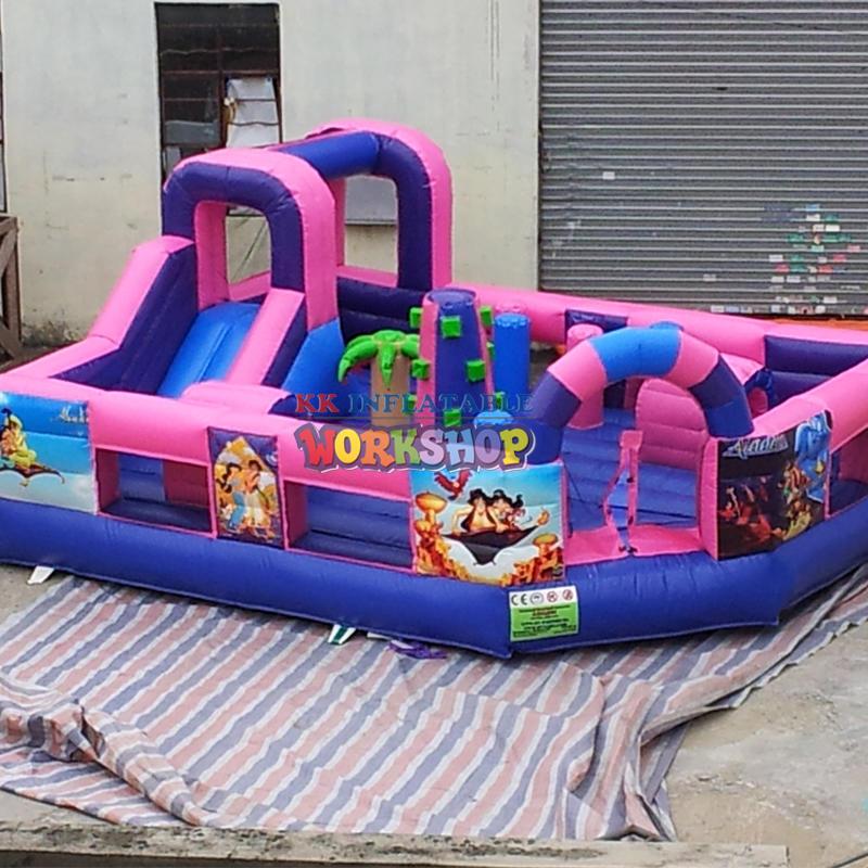 cartoon inflatable bouncer castle