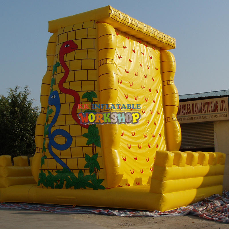 Inflatable rock climbing